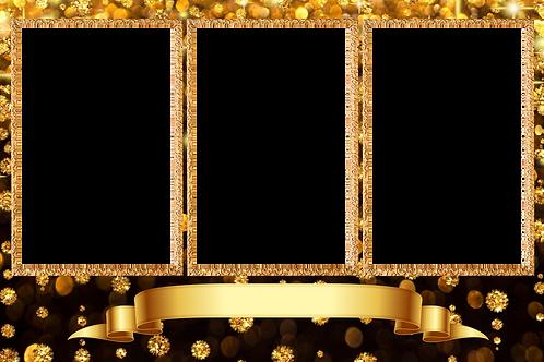 black and gold frame