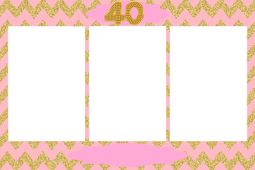 40th pink and gold