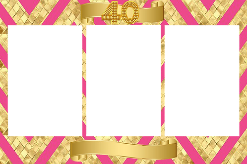 copy of 40th pink and gold