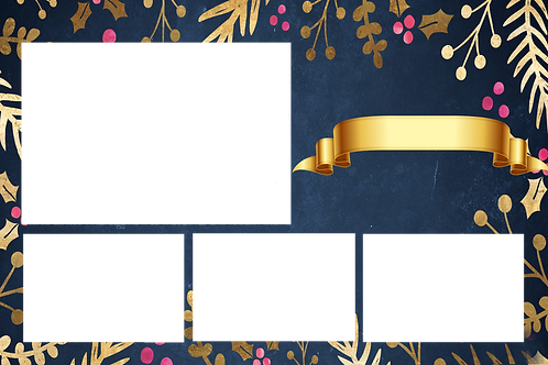 Blue xmas with banner