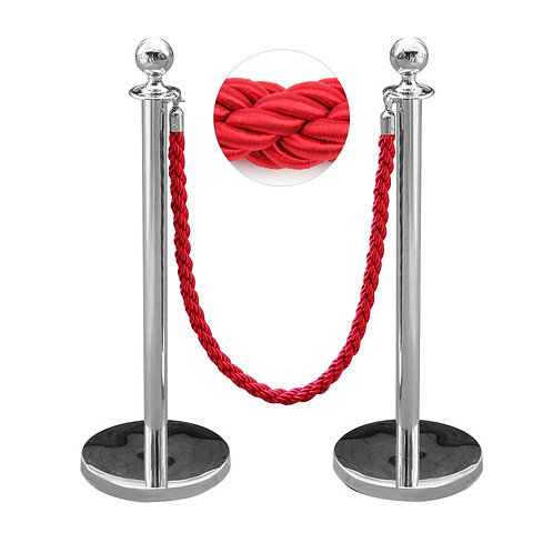 Barrier with red rope