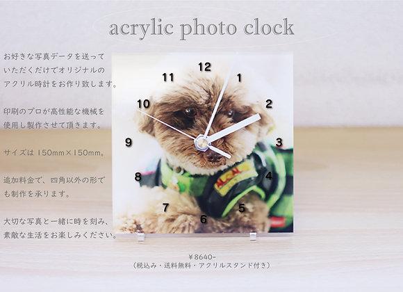 アクリル フルカラープリント時計