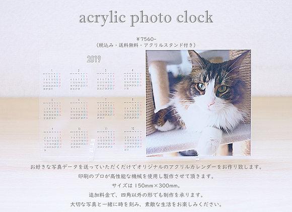 アクリル フルカラープリント カレンダー