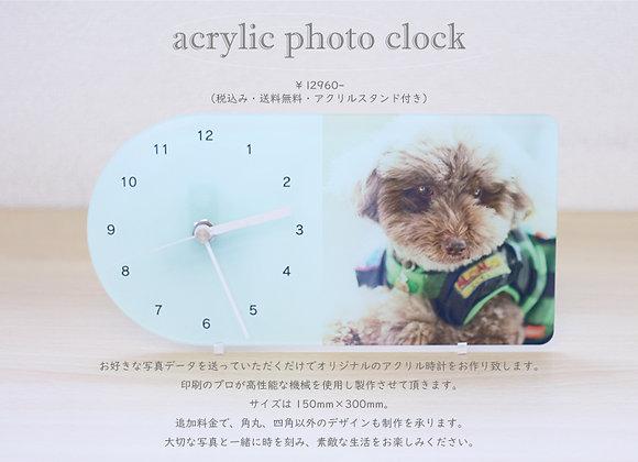 アクリル フルカラープリント時計 Lsize