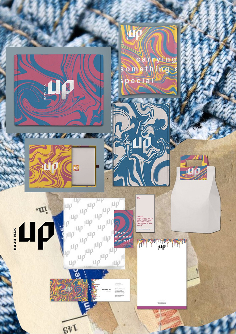 Baju Nak Up packaging