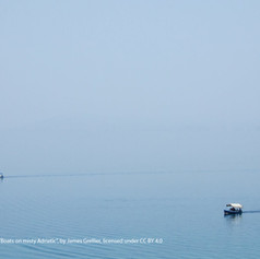 Boats on misty Adriatic - James Grellier