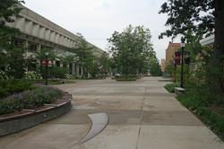 SIU Faner Pedestrian Walkway