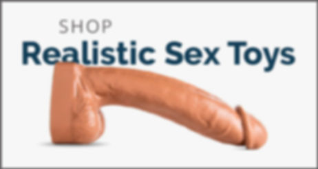 Image of a realistic dildo with Shop Now text