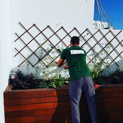 Macetero a medida para terraza en Sevill