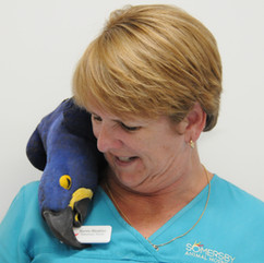 Kerrie with Macaw