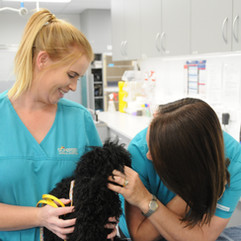 Cuddles with the nurses