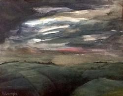 Storm over Saddleworth Hills