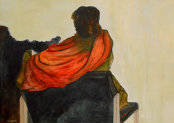 The orange scarf