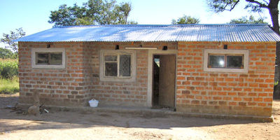 Building houses for teachers at Simooya Community School