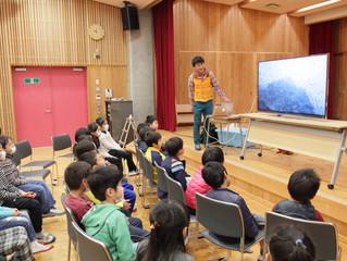 4Kテレビと4K映像を使った環境学習会を実施