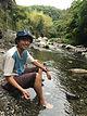 高槻市の名勝 摂津峡で川遊び