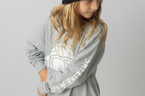 Girls Long Sleeve T-Shirt Grey