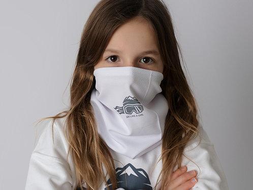 SKI LIKE A GIRL NECK GAITER / BANDANA - GREY