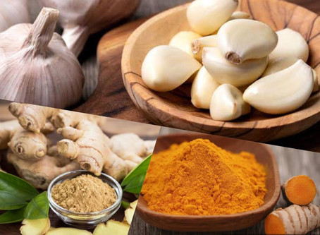 How to be Healthy & Strong by using ginger, turmeric & garlic