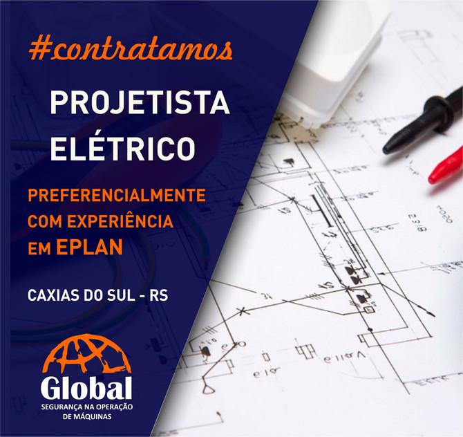 #contratamosPROJETISTA ELÉTRICO