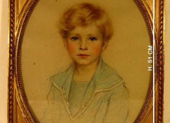 Tableau portrait d'enfant, de Bradford Johnson