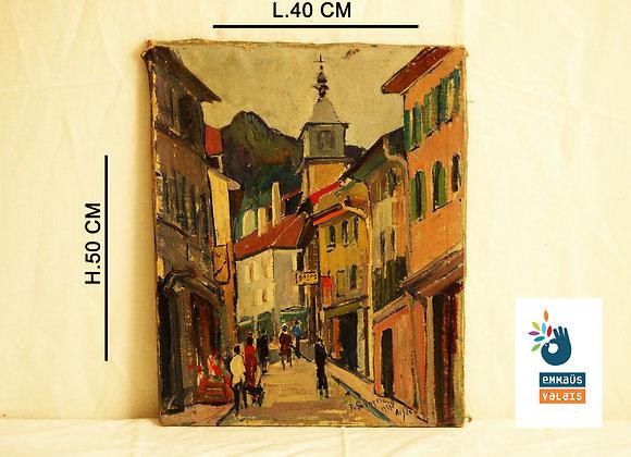 """Tableau """"Ville d'Aigle"""" 1951"""