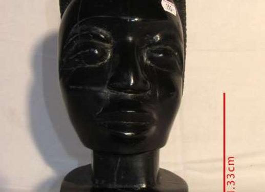 """Statuette en ébène """"Femme Africaine"""""""
