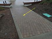 Alki Statue of Liberty Plaza - west path