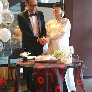 結婚式お披露目会!