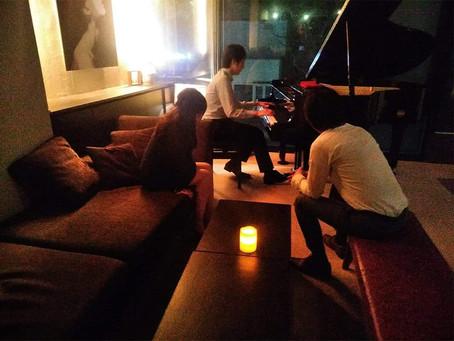 お客様からのピアノ演奏!