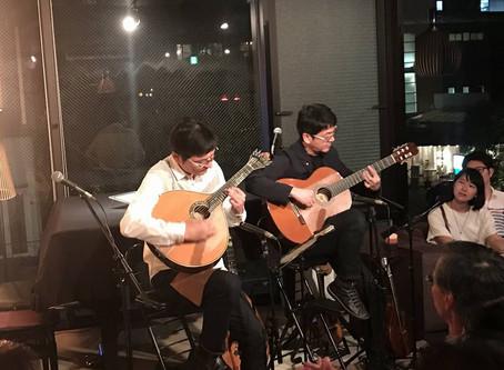 マンドリンとギターのセッションライブ!