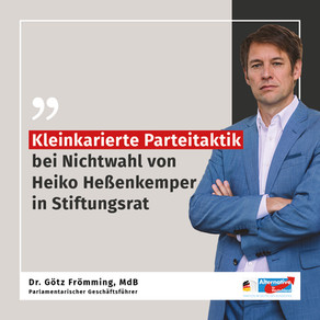11.12.2020 Kleinkarierte Parteitaktik bei Nichtwahl von Heiko Heßenkemper in Stiftungsrat