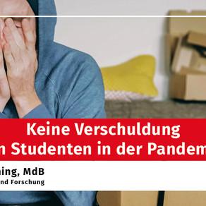 Keine Verschuldung von Studenten in der Pandemie!