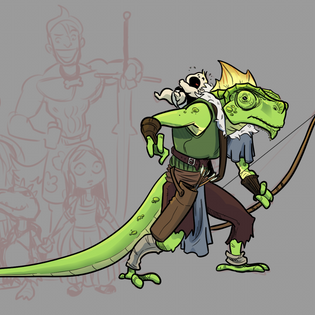 Tsuran - Lizardfolk Ranger