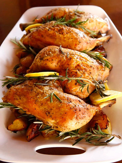 A French Breast of Organic Chicken with Lemon and Fresh Rosemary 12  Pieces