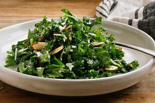 Lemon-Garlic Kale Almond Salad
