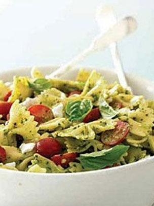 Farfalle Pasta, Leeks, Goat Cheese and Grape tomatoes