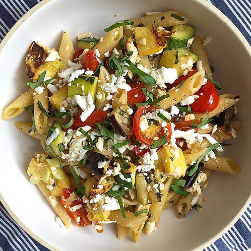 Penne with Roasted Vegetables and Ricotta Salata