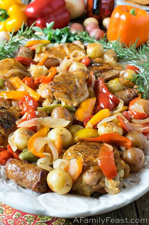 Roasted Chicken Scarpariello / Spicy