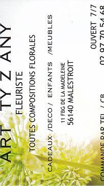 Art T Z'Any fleuriste à Malestroit 56140
