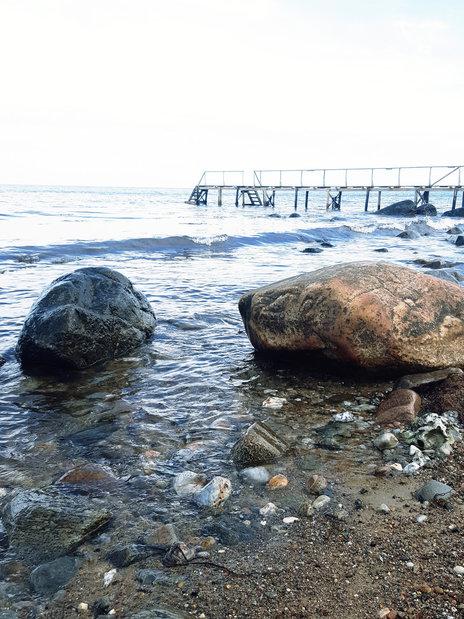 Jetty, Gilleleje beach