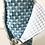 Thumbnail: Essuie tout lavable et réutilisable motif carré bleu