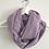 Thumbnail: Tour de cou / snood en double gaze de coton lilas