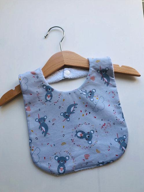 Bavoir en coton et éponge motifs koalas