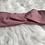 Thumbnail: Headband / bandeau en coton plumetis vieux rose