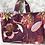 Thumbnail: Cabas en toile de coton motifs fleuris fond framboise