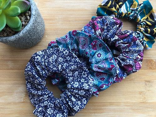 Chouchou en coton motifs