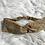 Thumbnail: Headband / bandeau en coton fleuri moutarde Froufrou