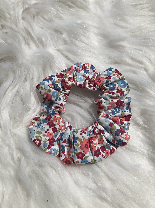 Chouchou élastique en tissu fleuri