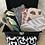 Thumbnail: Trousse / étui à lunettes en coton motifs abstraits noir et blanc